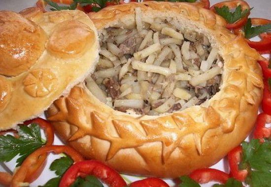 Балиш по-татарски (говядина + картофель)